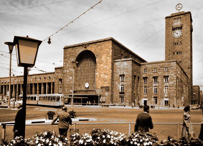 Hauptbahnhof um 1955 90 x 65 cm