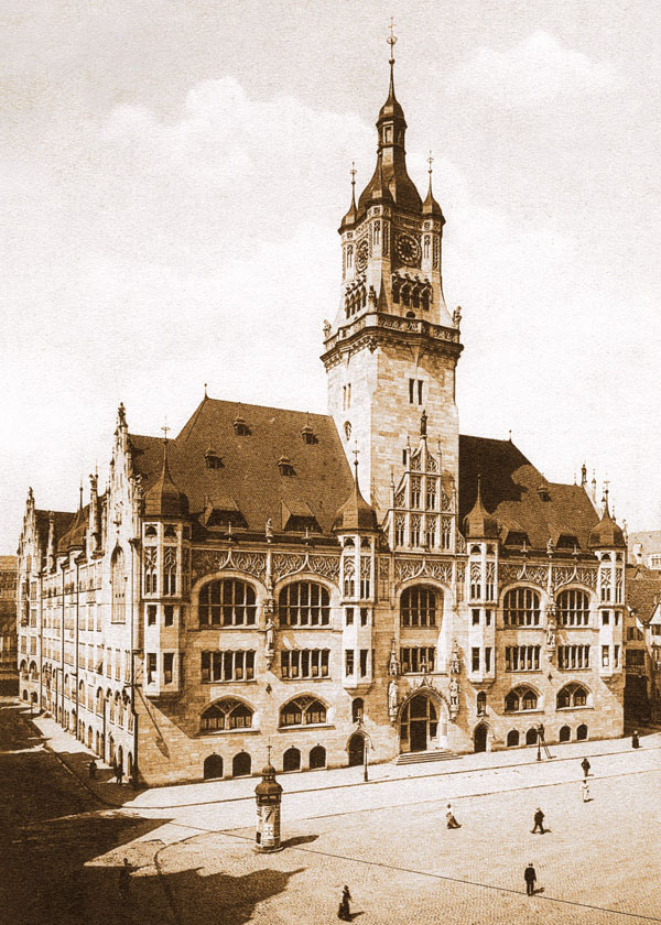 Altes Rathaus um 1910 50 x 70 cm