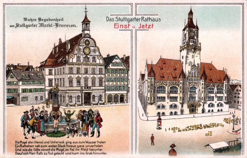 Erstes Rathaus und Nachfolgebau um 1935
