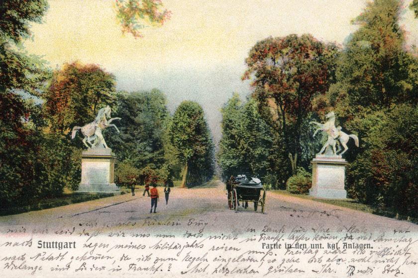 Schloßgarten (Untere Anlagen) um 1890