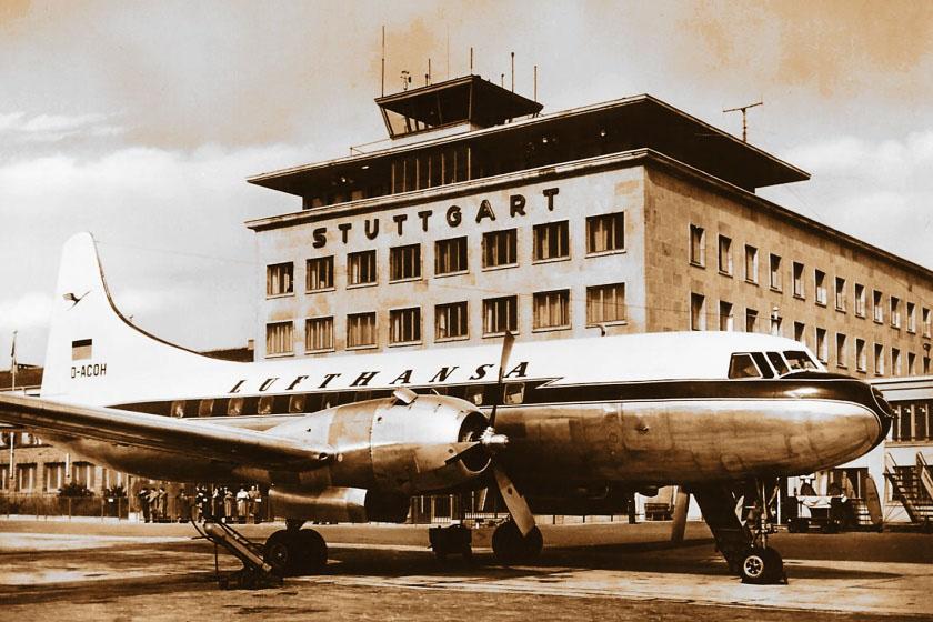 Flughafen um 1960