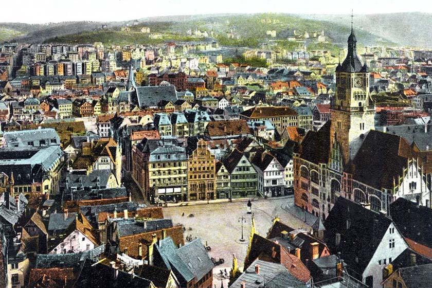 Marktplatz um 1920 75 x 50 cm