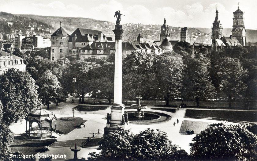 Schloßplatz um 1930 s/w 120 x 75 cm