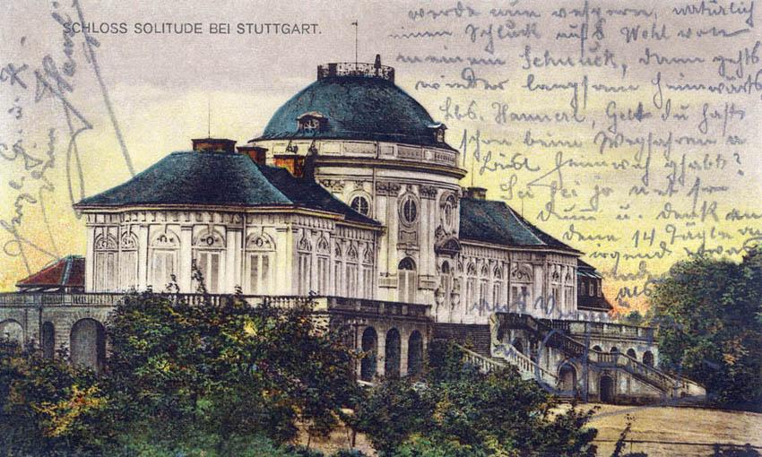 Schloß Solitude vor 1922 175x105cm
