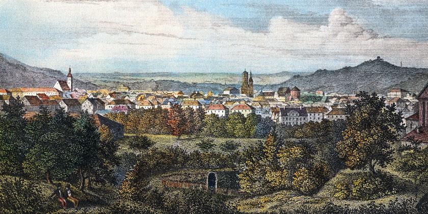 Ansicht von der Morgenseite um 1850